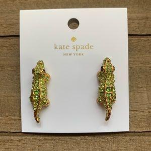 Kate Spade Swamped Pave Alligator Earrings
